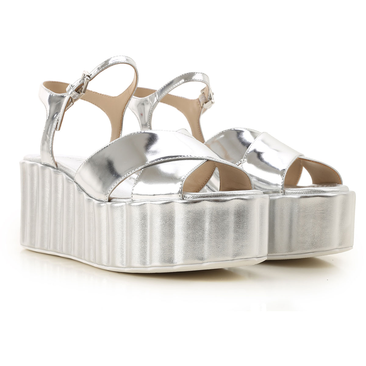 Strategia Wedges for Women On Sale Silver SE - GOOFASH