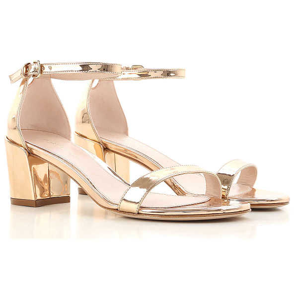 Stuart Weitzman Sandals for Women in Outlet Copper USA - GOOFASH