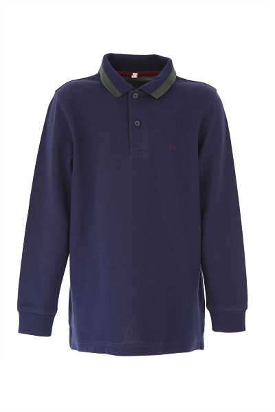 Sun68 Kids Polo Shirt for Boys Blue USA - GOOFASH