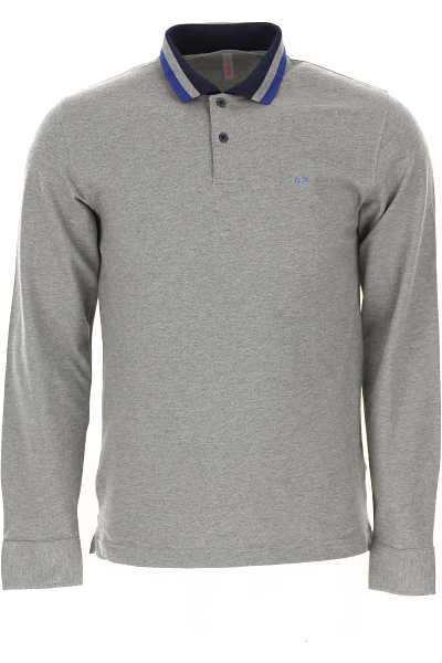 Sun68 Polo Shirt for Men Medium Grey SE - GOOFASH