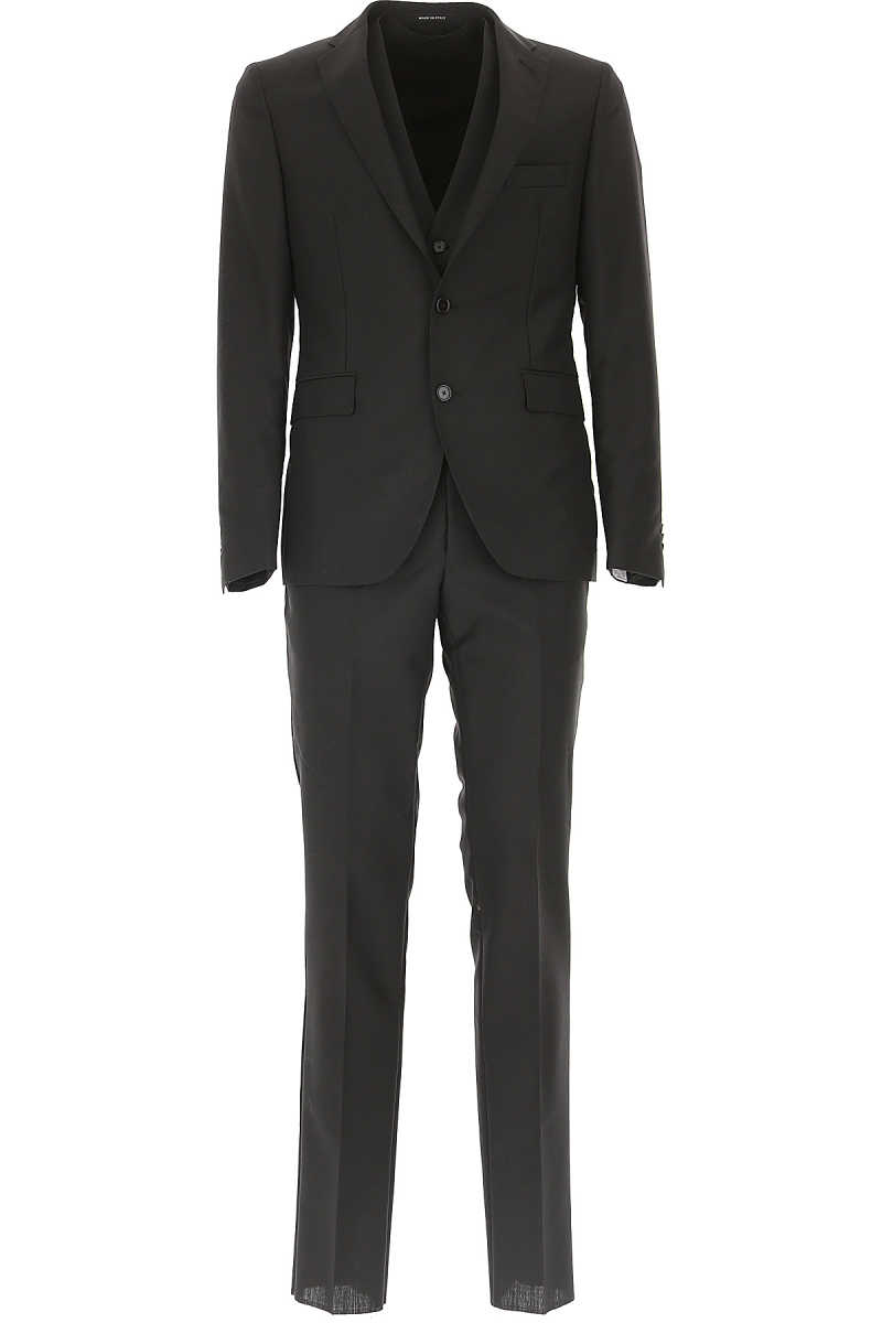 Tagliatore Men's Suit On Sale in Outlet Black SE - GOOFASH