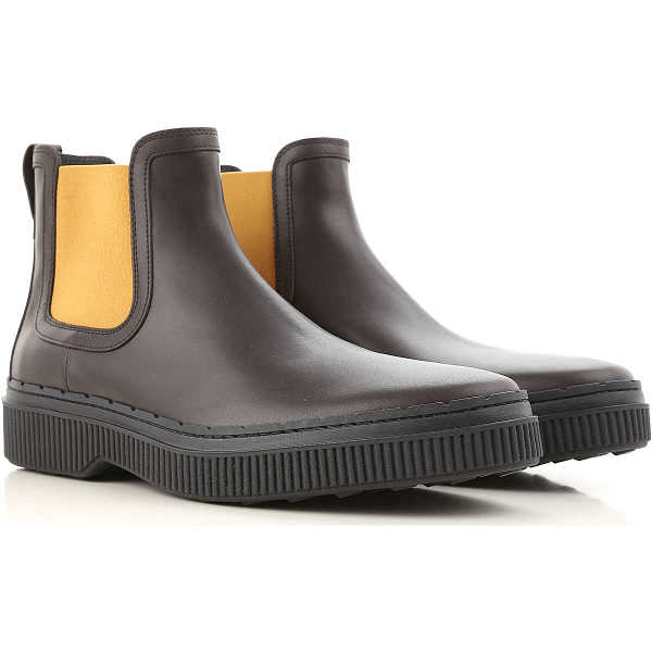 Tods Chelsea Boots for Men Dark Brown USA - GOOFASH