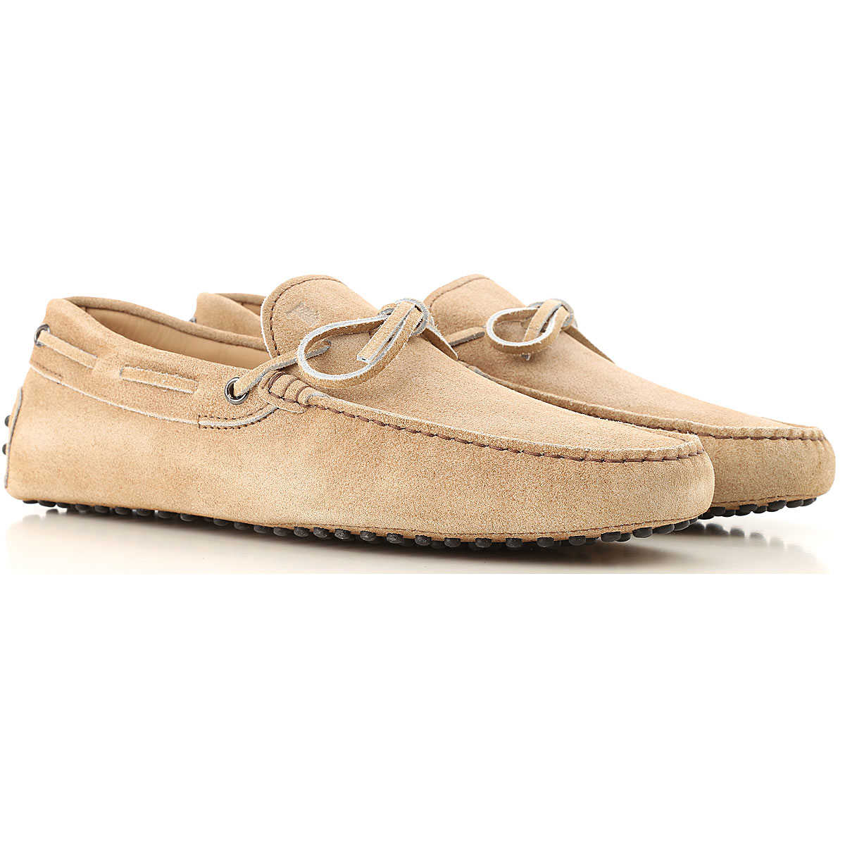 Tods Driver Loafer Shoes for Men Biscuit USA - GOOFASH