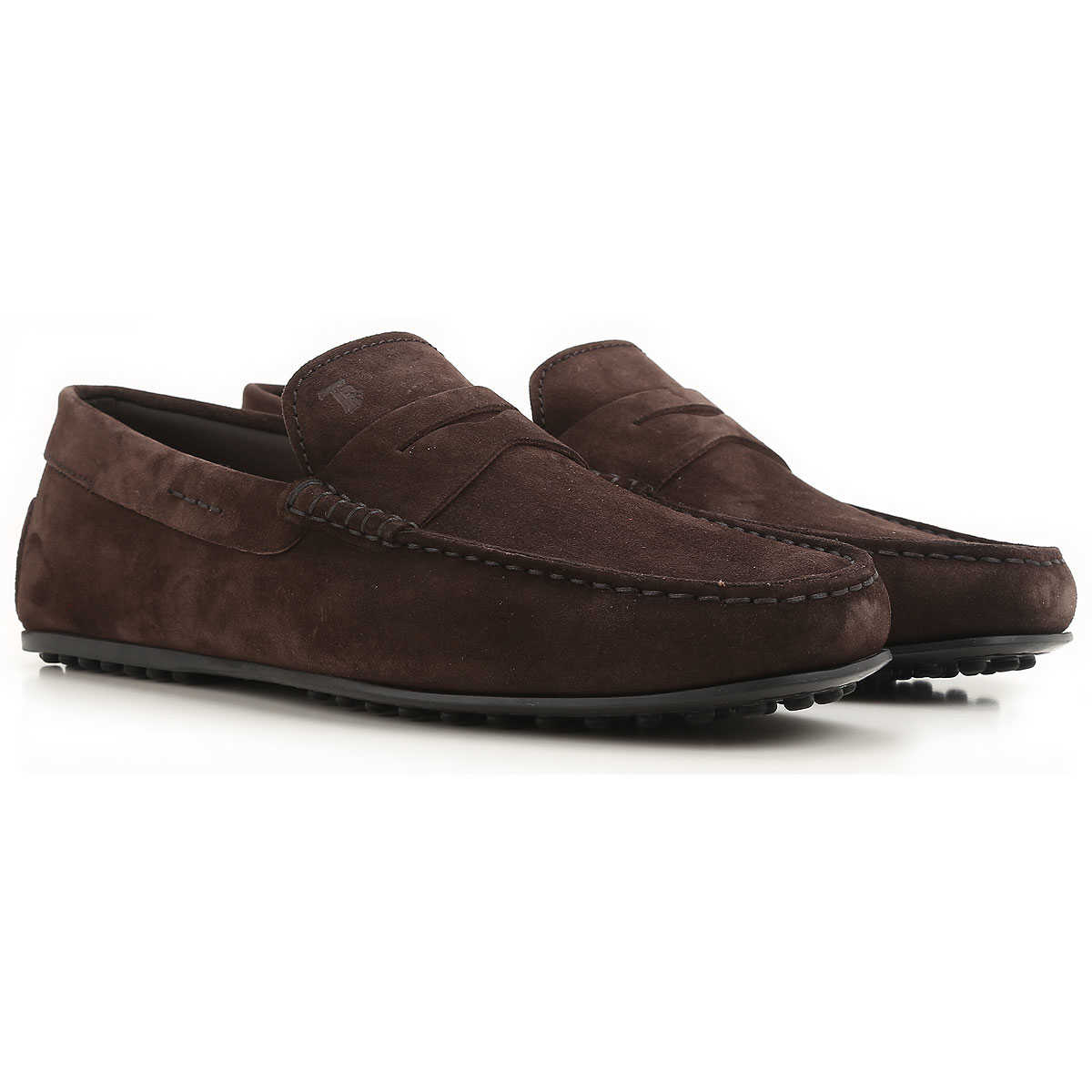 Tods Driver Loafer Shoes for Men Dark Brown USA - GOOFASH