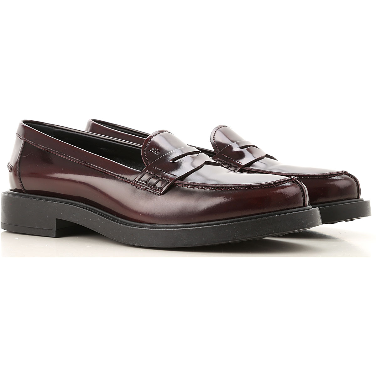 Tods Loafers for Women Bordeaux USA - GOOFASH