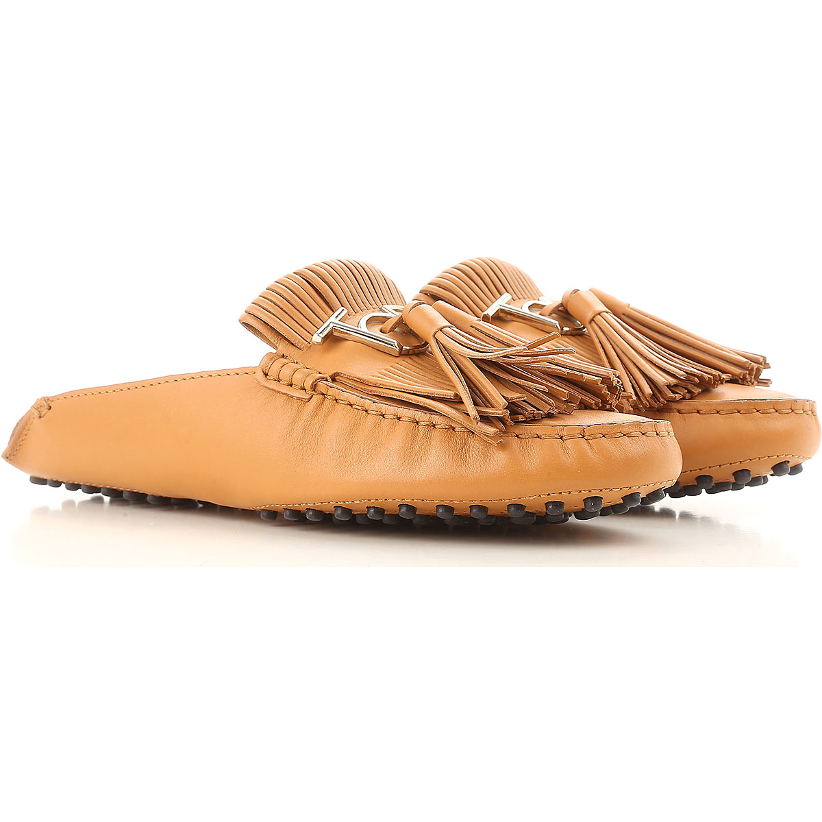 Tods Loafers for Women Camel USA - GOOFASH