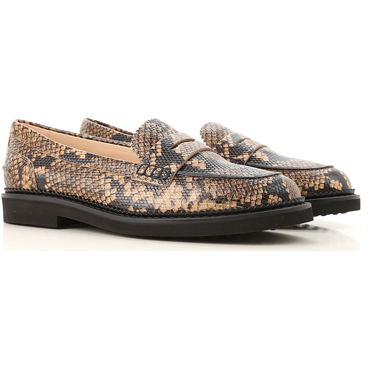 Tods Loafers for Women Light Clay USA - GOOFASH