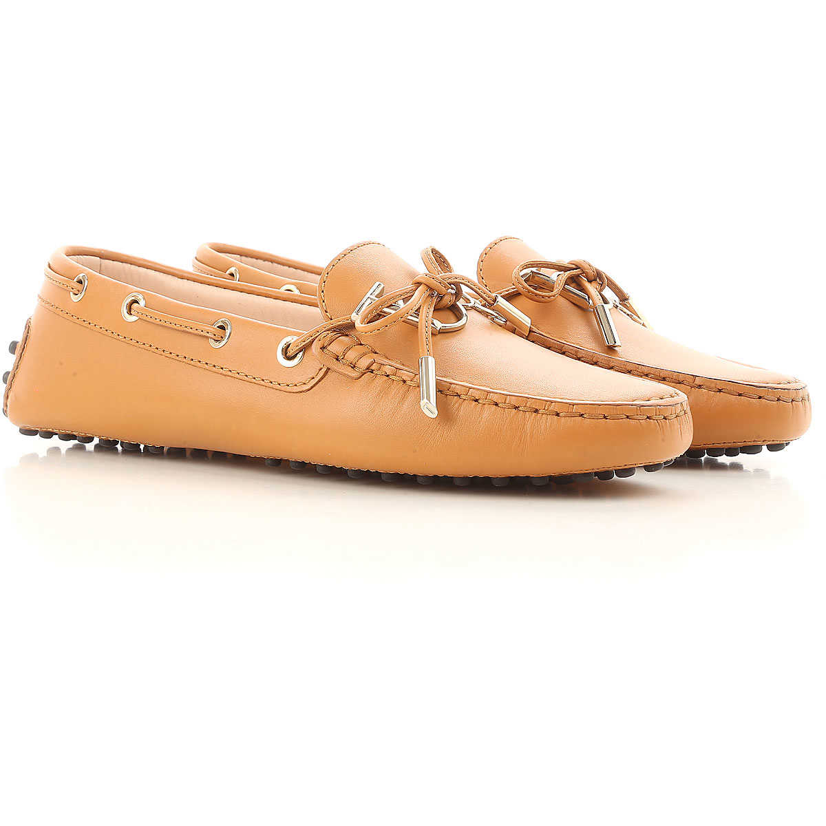 Tods Loafers for Women Light Leather Brown USA - GOOFASH