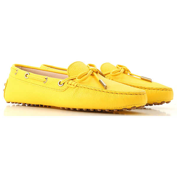 Tods Loafers for Women On Sale Bright Yellow SE - GOOFASH
