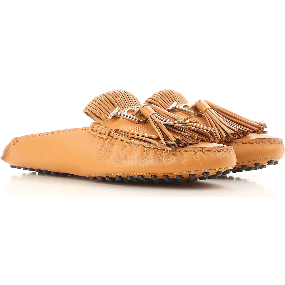 Tods Loafers for Women On Sale Camel SE - GOOFASH