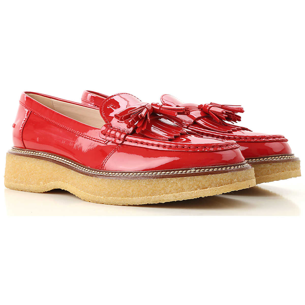 Tods Loafers for Women On Sale Ruby Red SE - GOOFASH