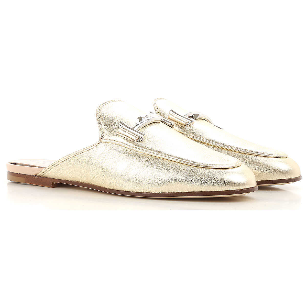 Tods Loafers for Women Platinum USA - GOOFASH