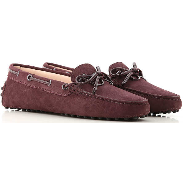 Tods Loafers for Women Wine SE - GOOFASH