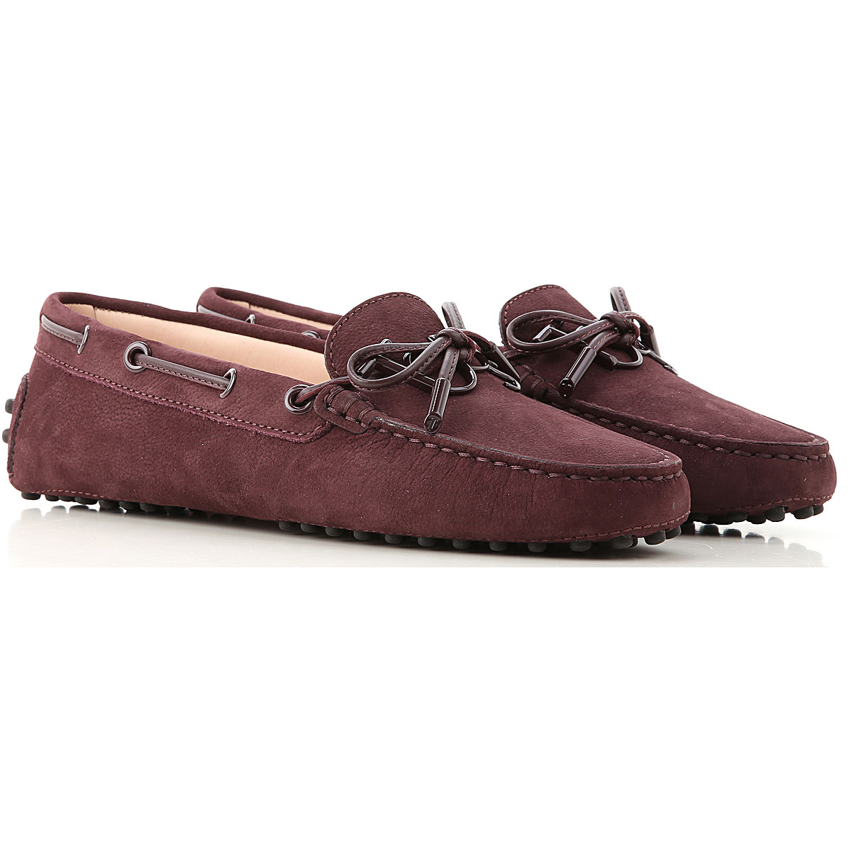 Tods Loafers for Women Wine USA - GOOFASH
