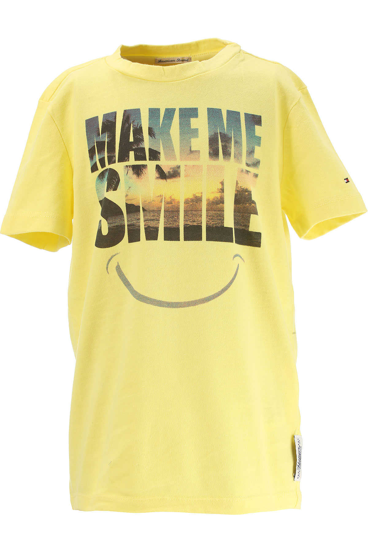 Tommy Hilfiger Kids T-Shirt for Boys On Sale in Outlet Yellow SE - GOOFASH