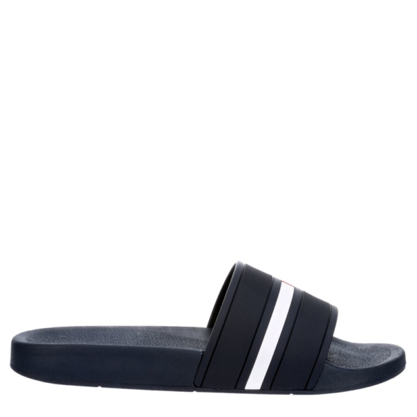 Tommy Hilfiger Mens Tmennis Slides Sandals Navy USA - GOOFASH