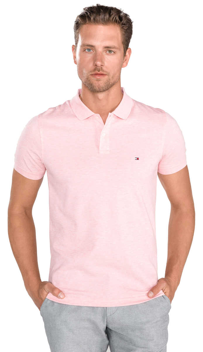 Tommy Hilfiger Polo Shirt Pink UK - GOOFASH
