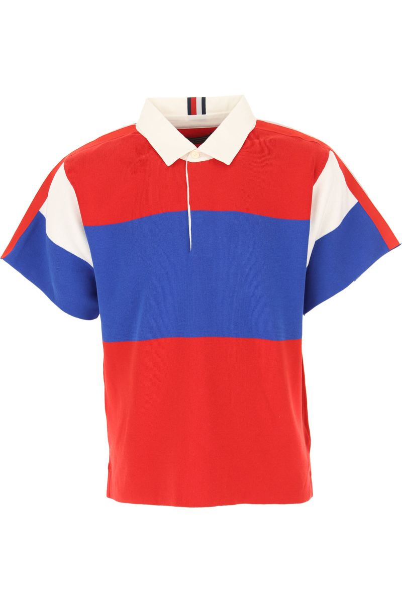 Tommy Hilfiger Polo Shirt for Men On Sale in Outlet Red SE - GOOFASH