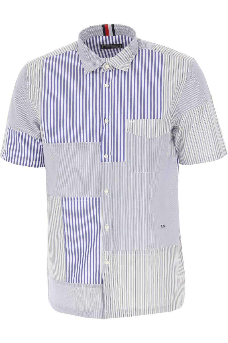 Tommy Hilfiger Shirt for Men On Sale in Outlet White SE - GOOFASH