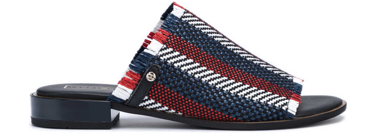 Tommy Hilfiger Slippers Blue Red UK - GOOFASH