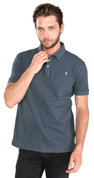 Trussardi Jeans Polo Shirt Grey UK - GOOFASH