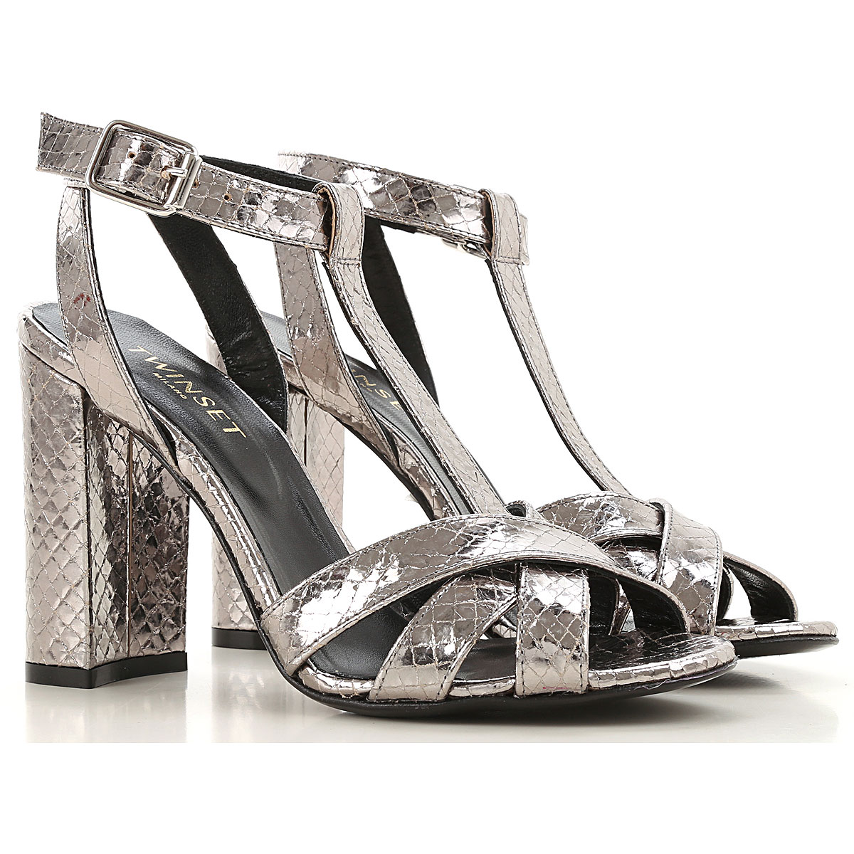 Twin Set by Simona Barbieri Sandals for Women Silver USA - GOOFASH