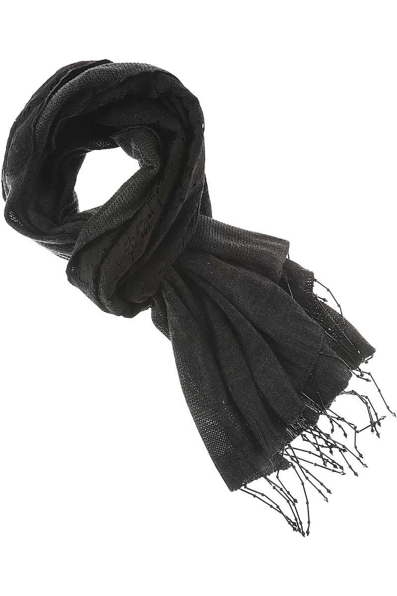 Twin Set by Simona Barbieri Scarf for Women On Sale Black SE - GOOFASH