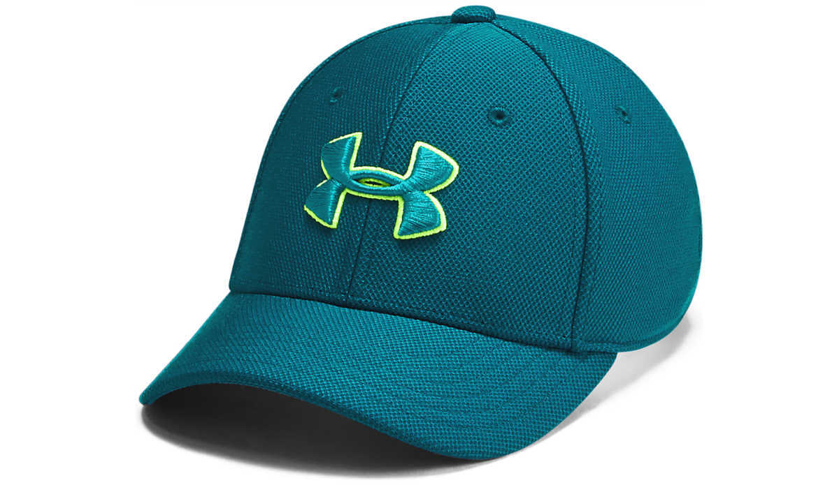 Under Armour Blitzing 3.0 Kids cap Blue Green UK - GOOFASH