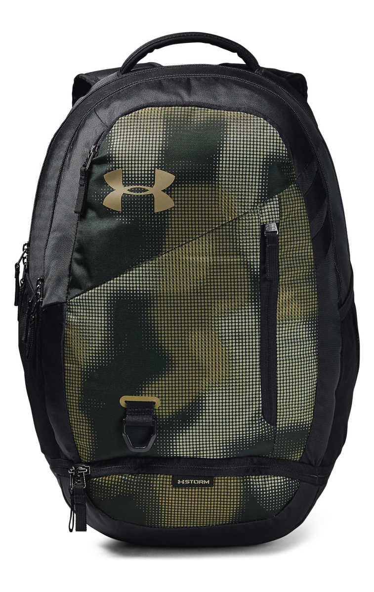 Under Armour Hustle 4.0 Backpack Black Green UK - GOOFASH