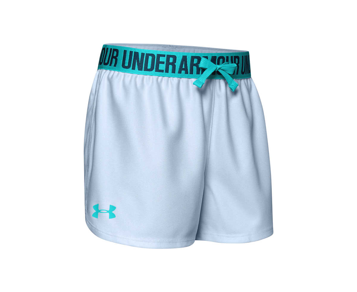 Under Armour Play Up Kids shorts Blue UK - GOOFASH