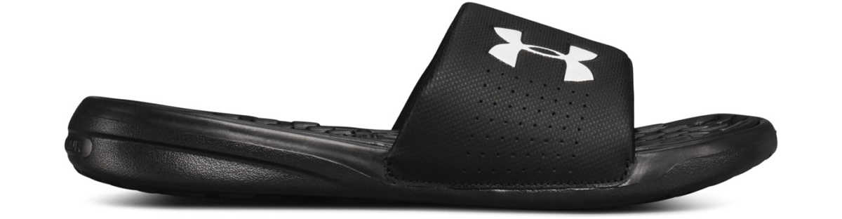 Under Armour Playmaker Slippers Black UK - GOOFASH