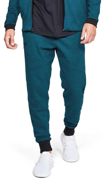 Under Armour Unstoppable Double Knit Tracksuit Blue Green UK - GOOFASH