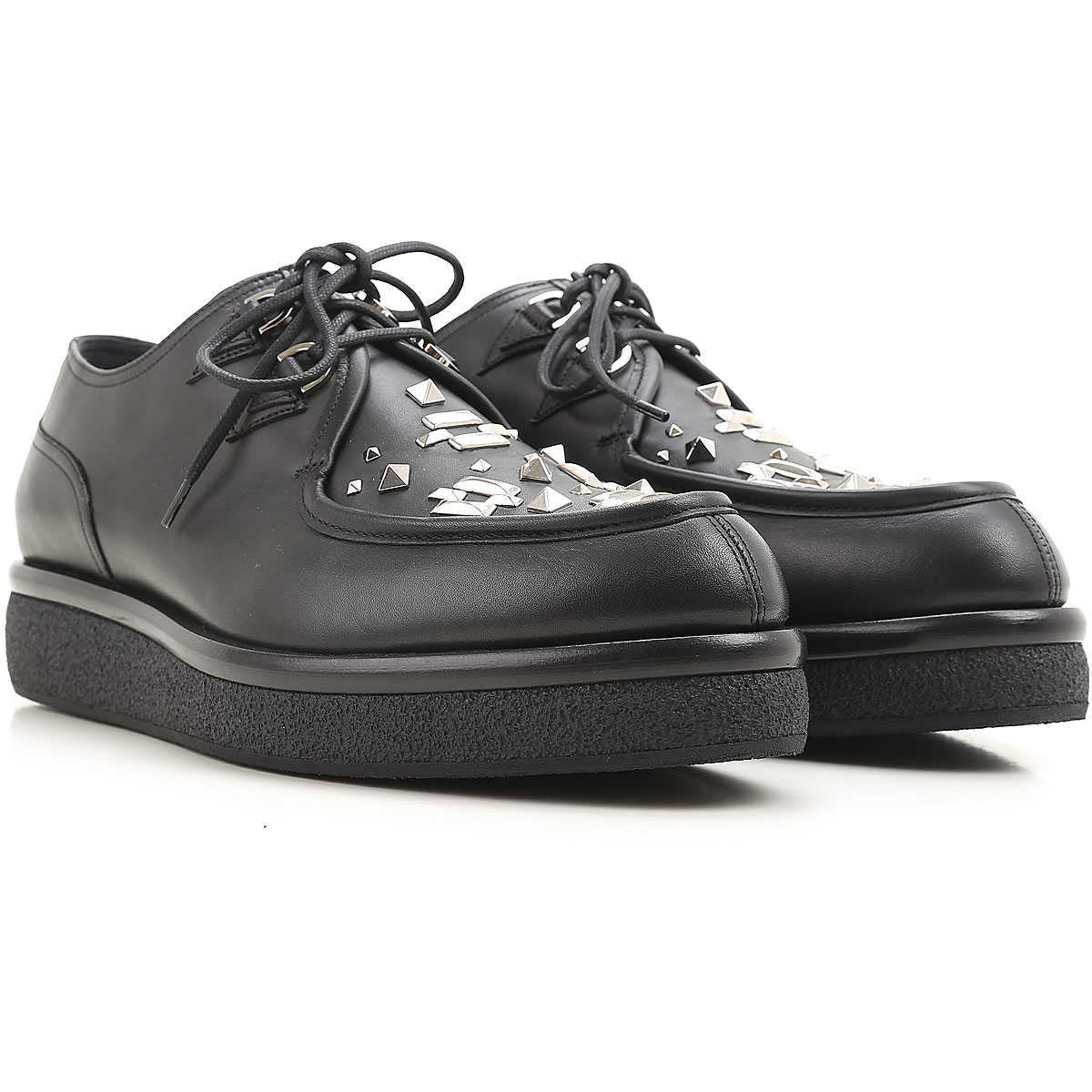 Valentino Garavani Lace Up Shoes for Men Oxfords Derbies and Brogues On Sale in Outlet SE - GOOFASH