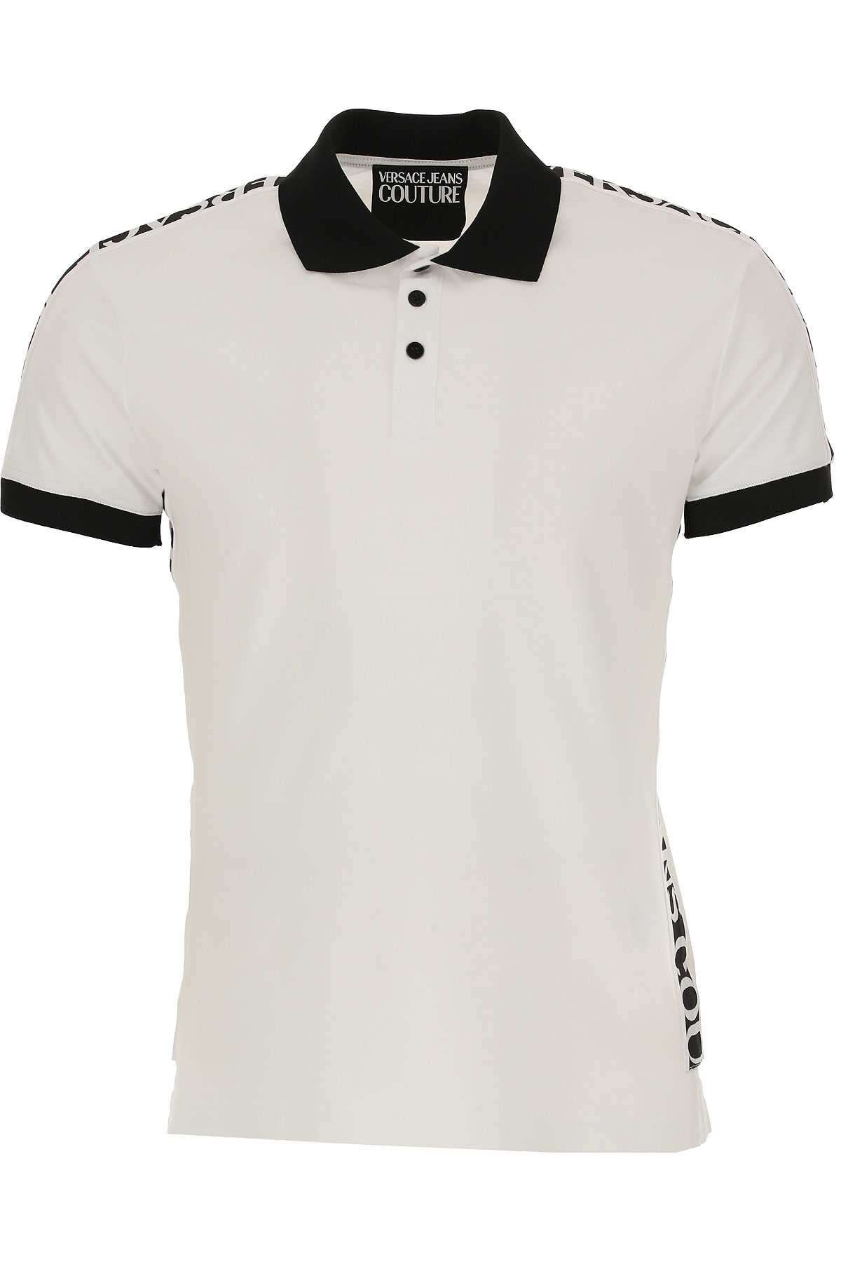 Versace Jeans Couture Polo Shirt for Men White USA - GOOFASH