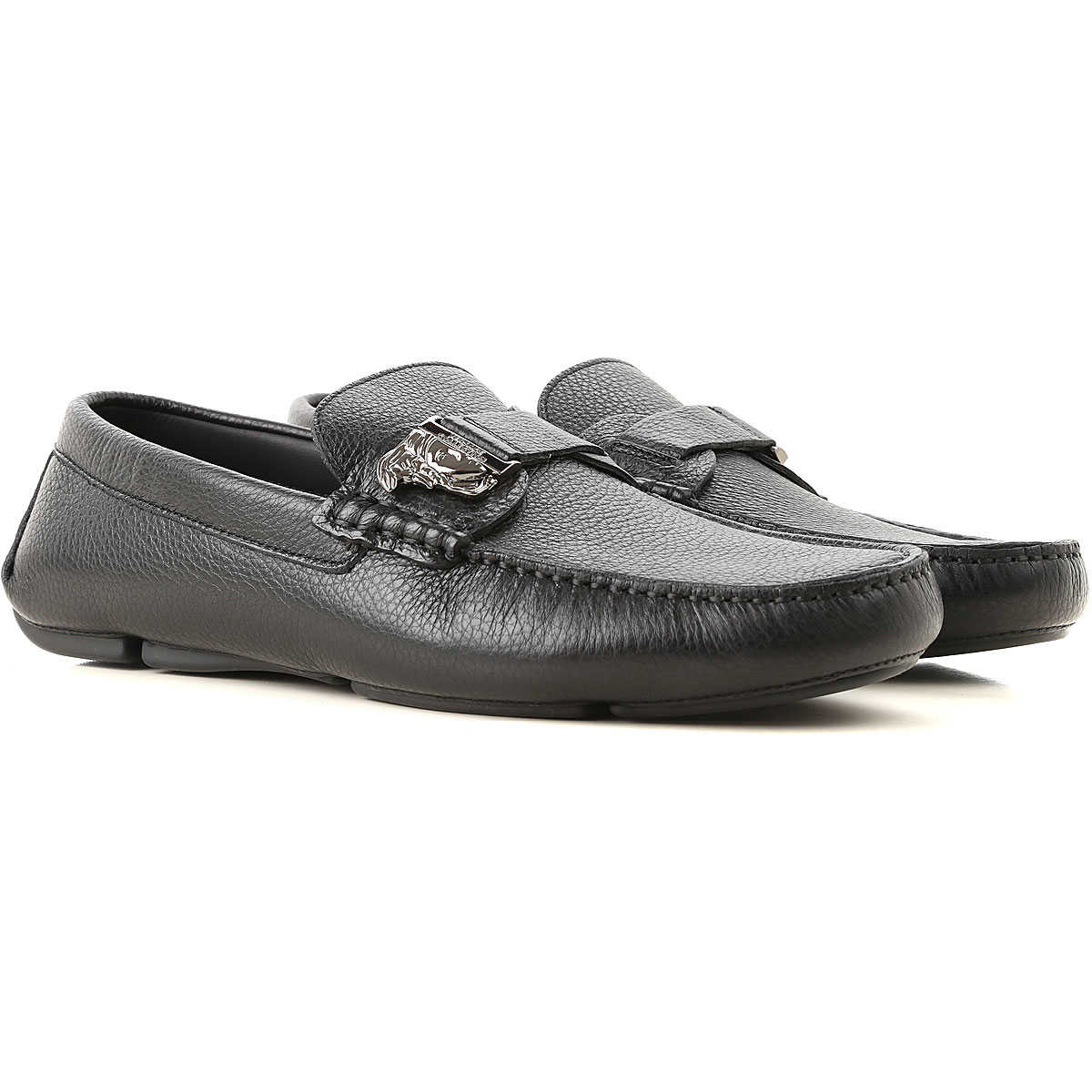 Versace Loafers for Men Black USA - GOOFASH