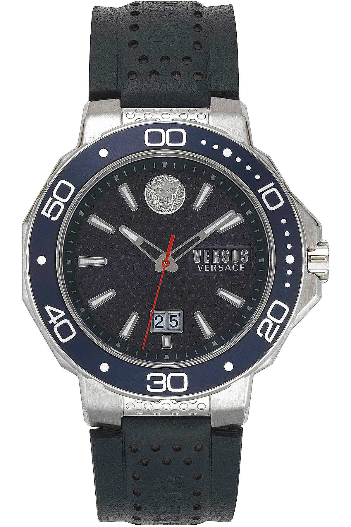 Versace Watch for Men Dark Blue USA - GOOFASH