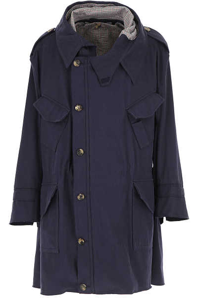 Vivienne Westwood Men's Coat Dark Blue USA - GOOFASH