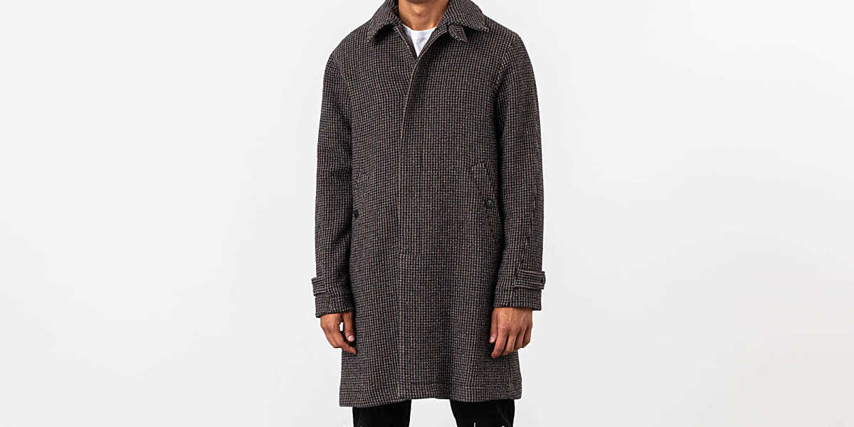 WOOD WOOD Didrik Coat Grey Check UK - GOOFASH