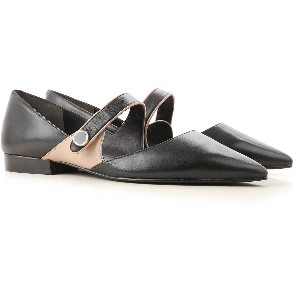 What For Ballet Flats Ballerina Shoes for Women Black USA - GOOFASH