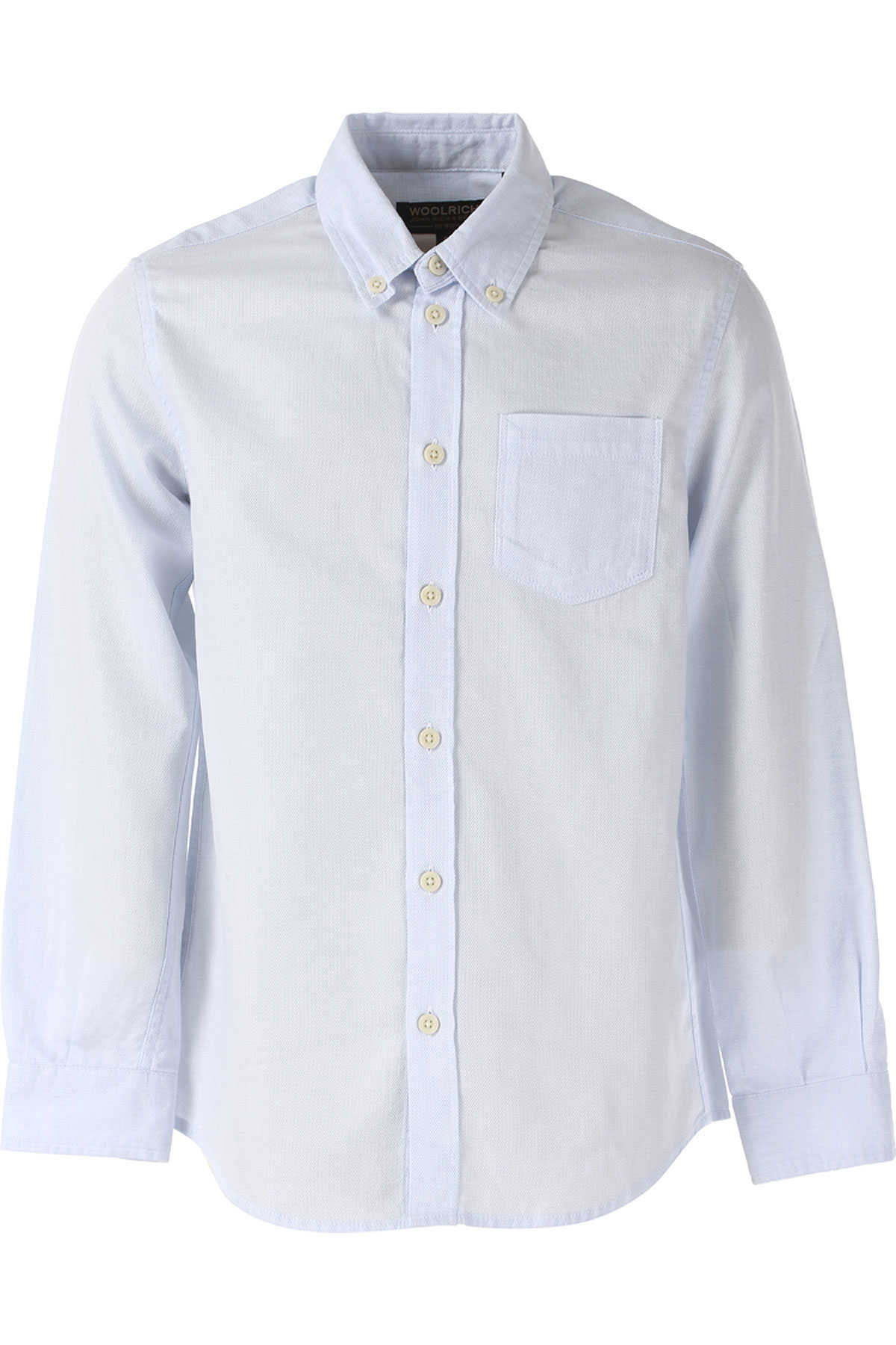 Woolrich Kids Shirts for Boys On Sale in Outlet Pale Blue SE - GOOFASH