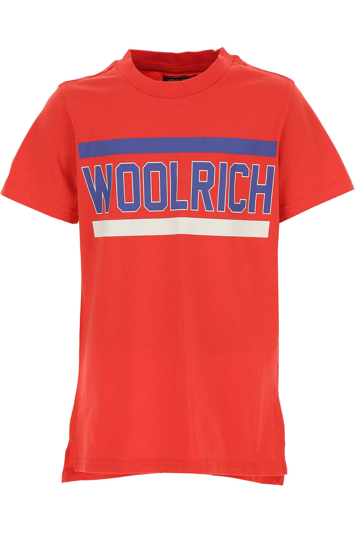Woolrich Kids T-Shirt for Boys On Sale Red SE - GOOFASH