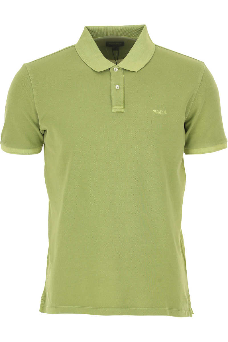 Woolrich Polo Shirt for Men On Sale Apple Green SE - GOOFASH