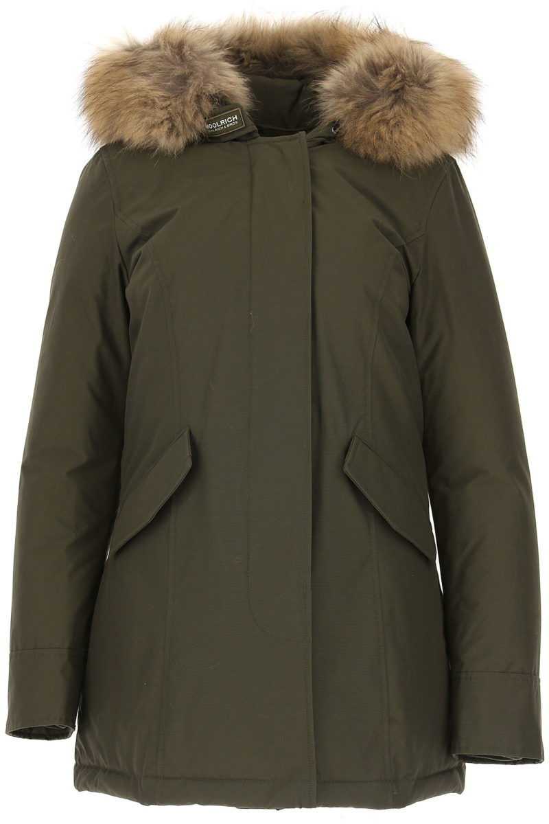 Woolrich Women's Coat in Outlet Dark Military Green USA - GOOFASH