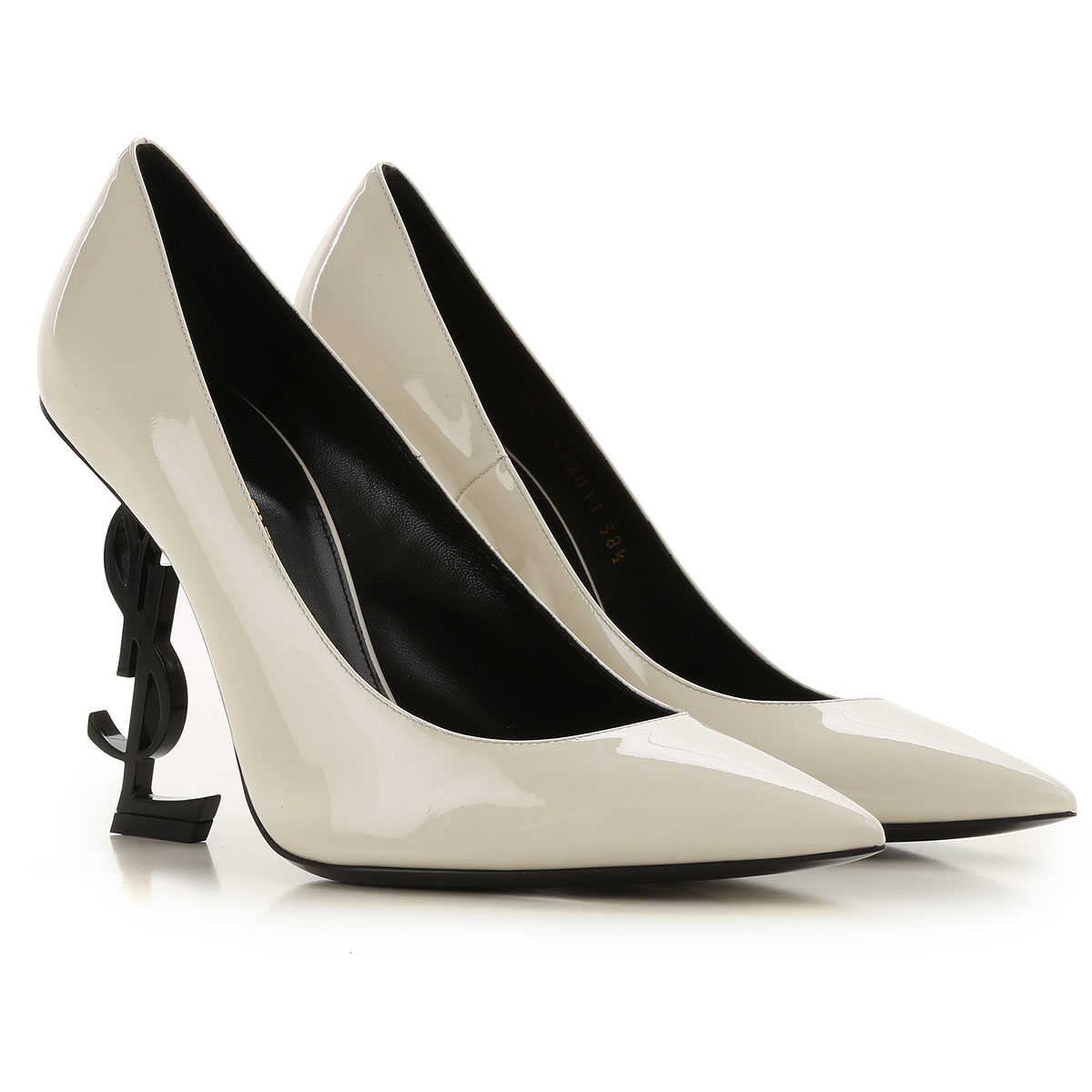 Yves Saint Laurent Pumps & High Heels for Women Dirty White USA - GOOFASH