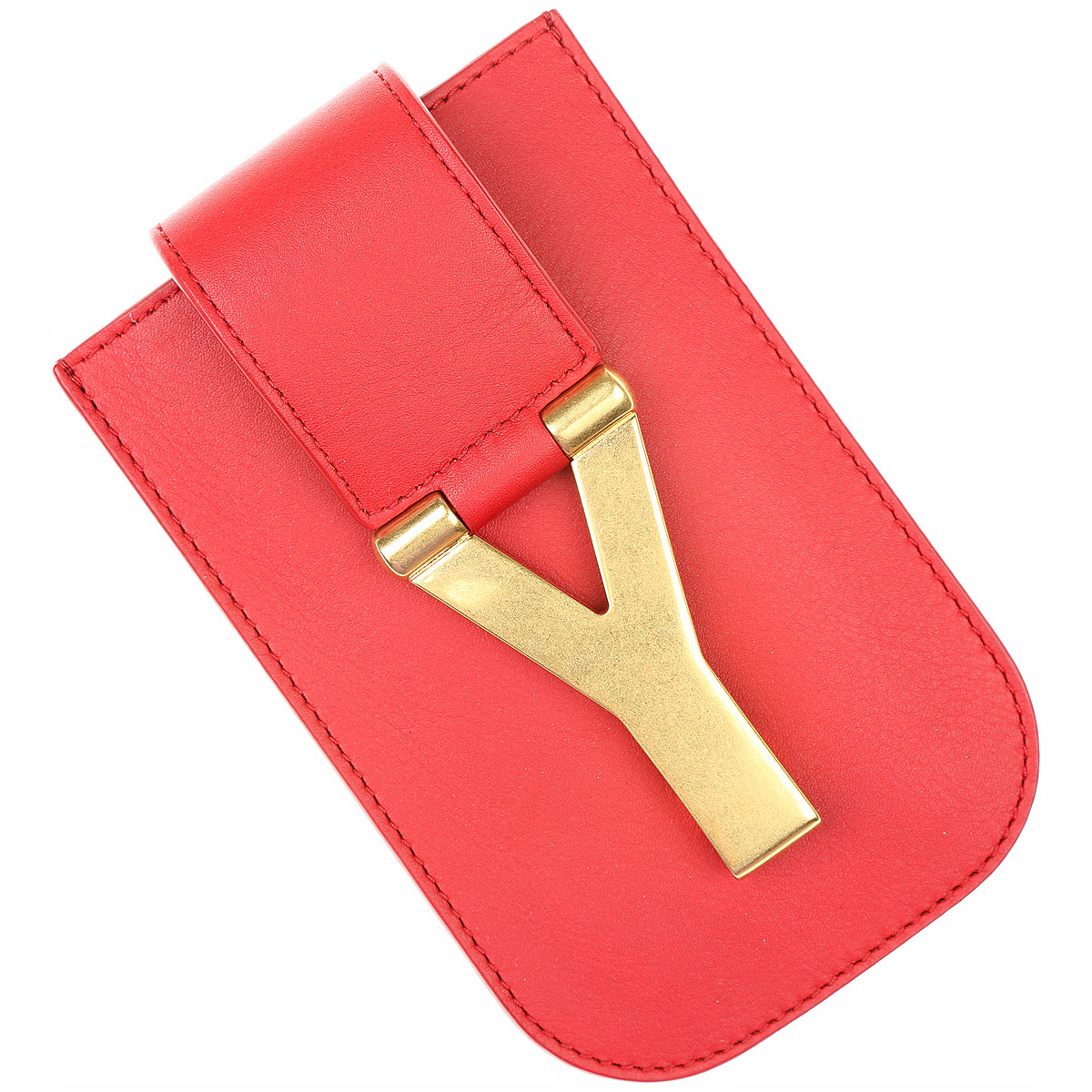 Yves Saint Laurent Womens Wallets in Outlet Flame Red USA - GOOFASH