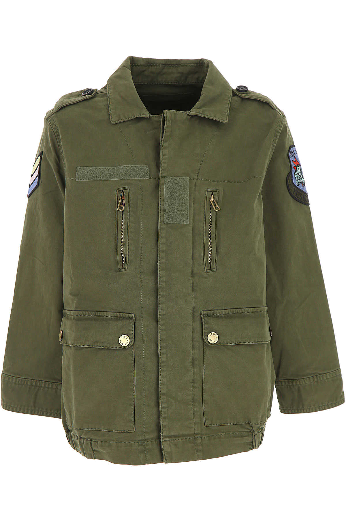Zadig & Voltaire Kids Jacket for Boys On Sale Military Green SE - GOOFASH