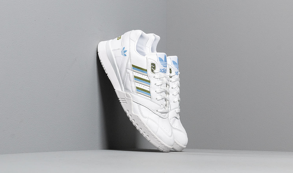 adidas A.R. Trainer W Ftw White/ Tech Olive/ Real Blue UK - GOOFASH