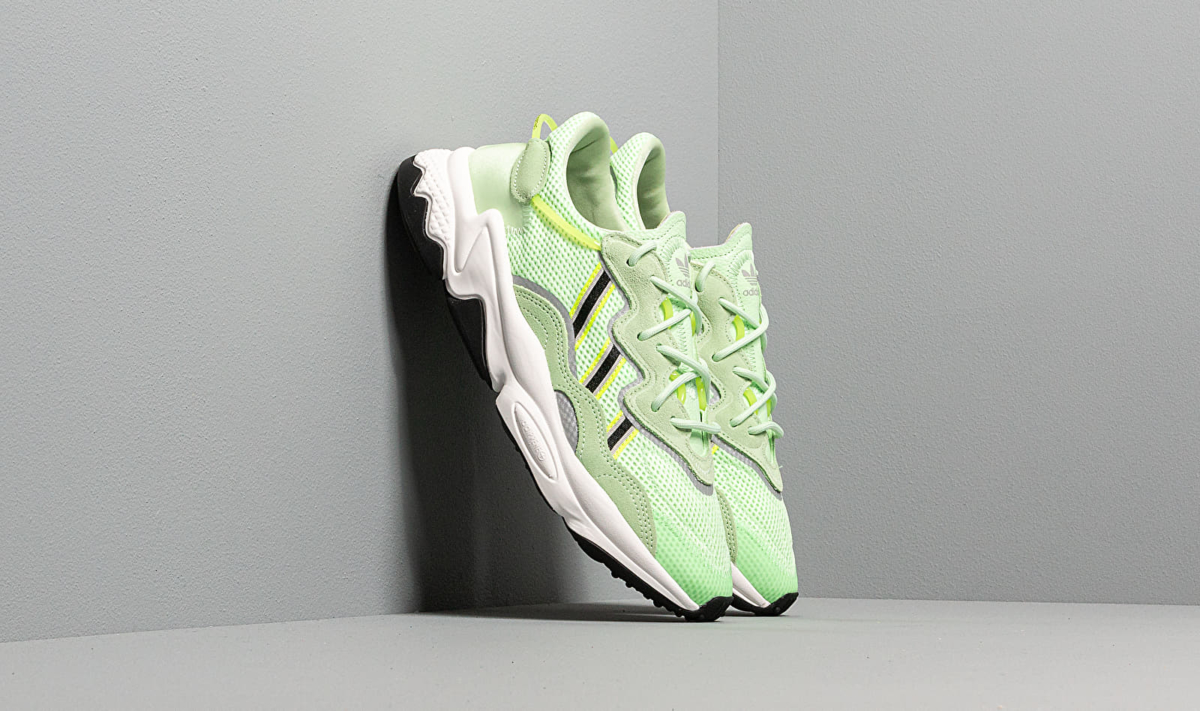 adidas Ozweego Glow Green/ Core Black/ Solar Yellow UK - GOOFASH