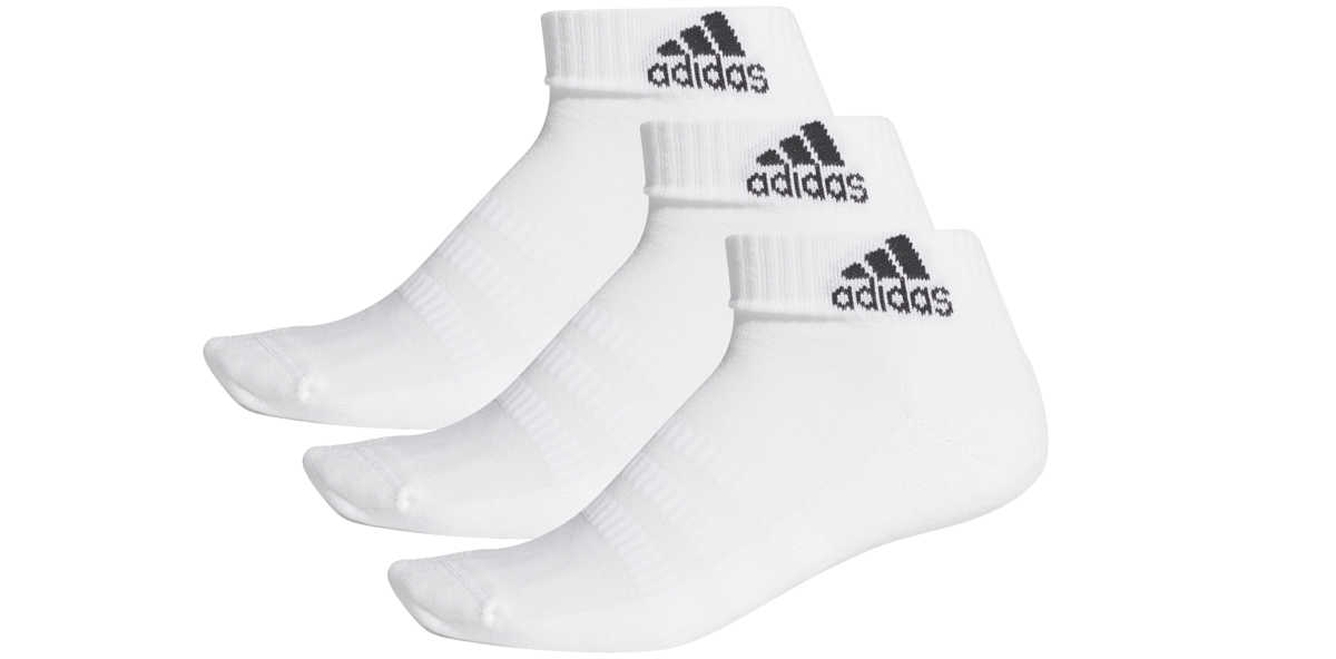 adidas Performance Cush Set of 3 pairs of socks White UK - GOOFASH