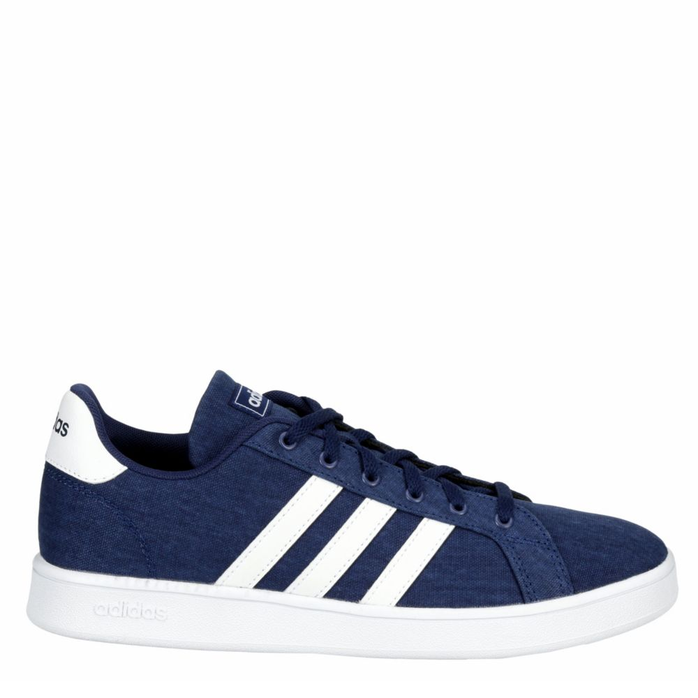 Adidas Boys Grand Court Shoes Sneakers Navy USA - GOOFASH - Mens SNEAKER